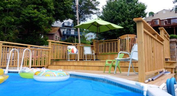 above ground pool floating deck - Above Ground Pool Floating Deck