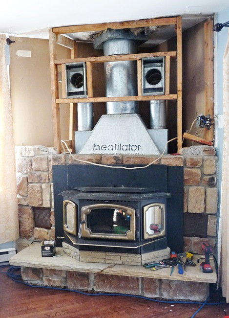 Fireplace deconstruction