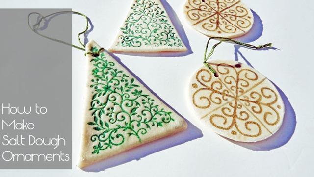 How To Make Christmas Tree Ornaments With Dough : Our lake life diy salt dough ornaments