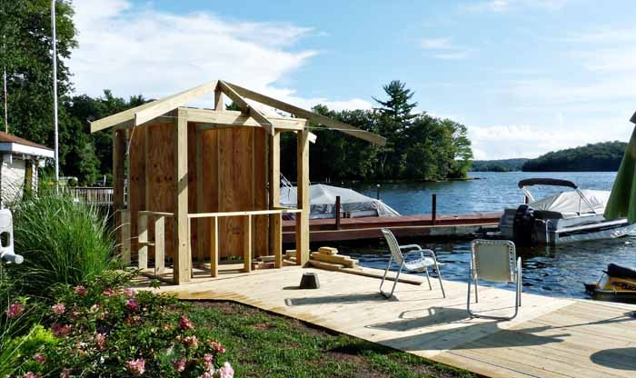 Our Lake LifeBuilding a Covered Outdoor Bar Our Lake Life